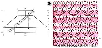 вязаное пончо цветочное-схема 2