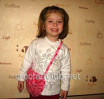 детская сумка-кошелек крючком 1