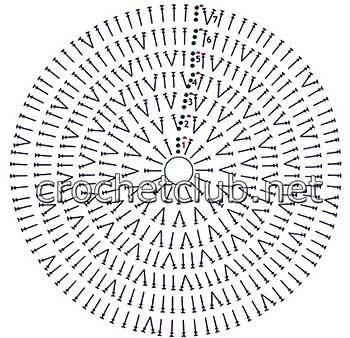детские шапочки крючком-схема 1