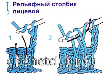 детские шапочки крючком-схема 3