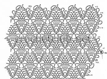 ананасовый узор-схема