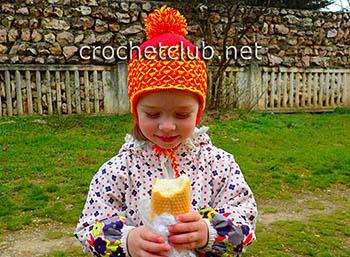 двухцветная шапочка крючком
