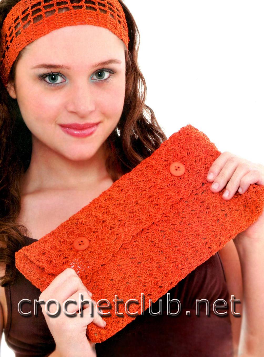 повязка для волос крючком схема