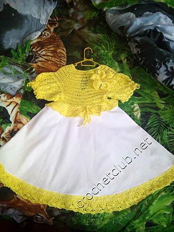 платье лилия-вязание и ткань