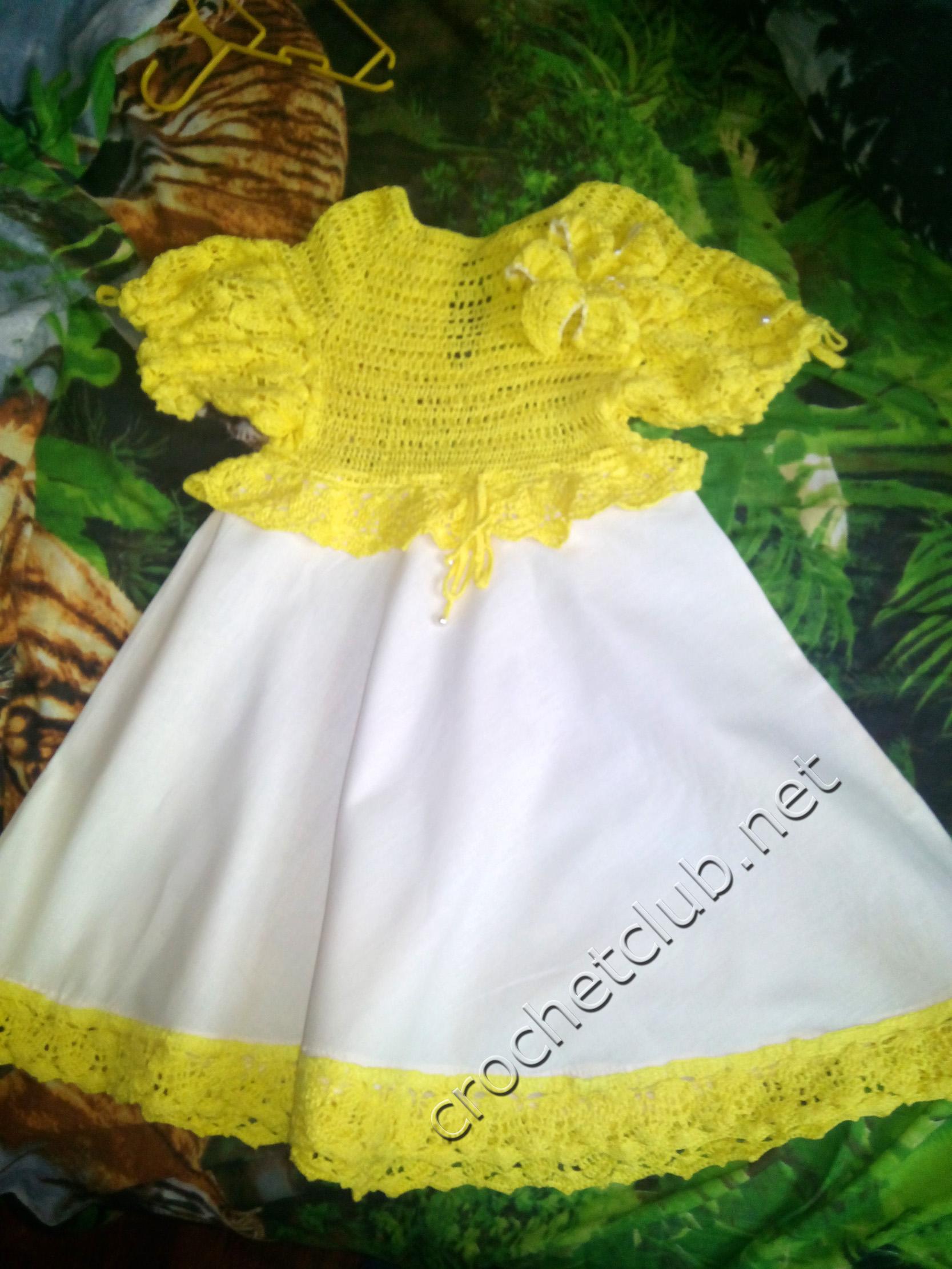 Схема лилия для вязания платья