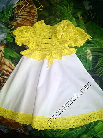 платье лилия-вязание и ткань 1