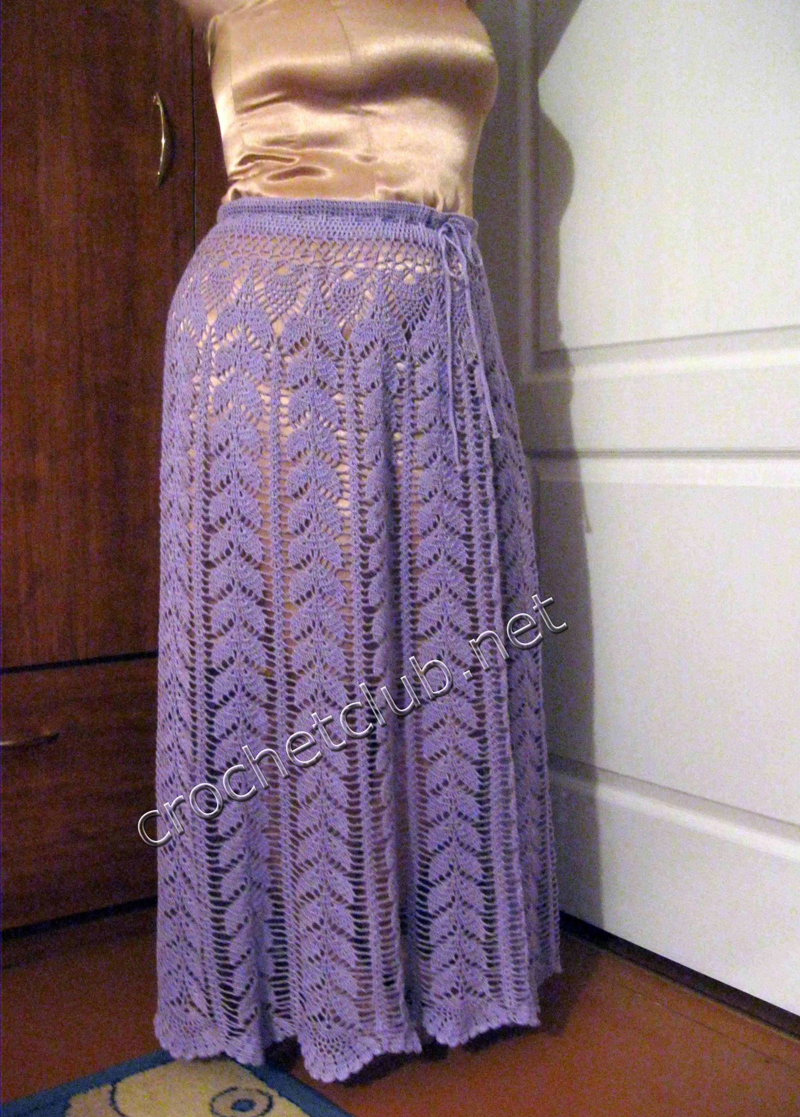 e2e1ffcb155 Вязаная юбка узором «Листики» - Вязание Крючком. Блог Настика