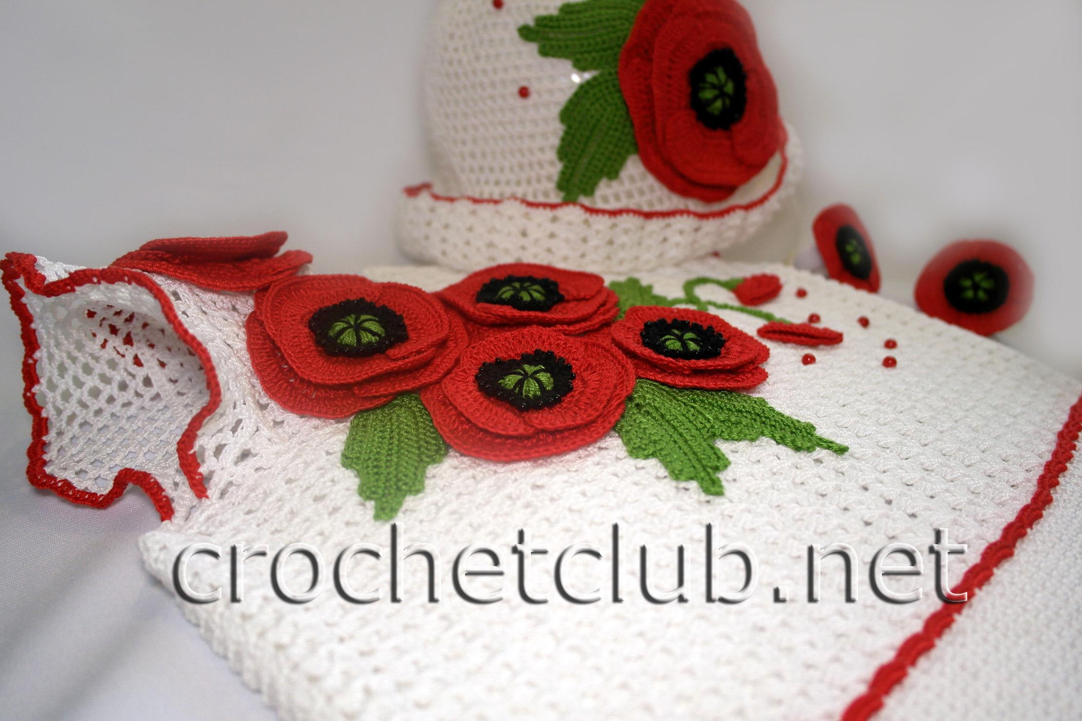 вязаное платье маков цвет вязание крючком блог настика