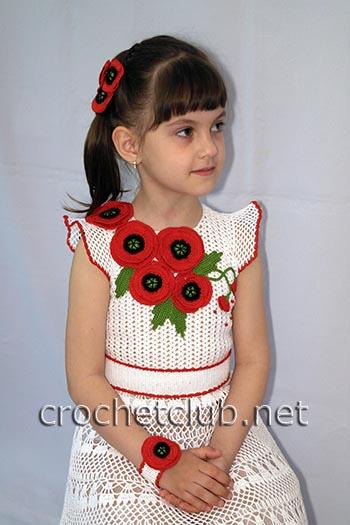 вязаное платье маков цвет 2