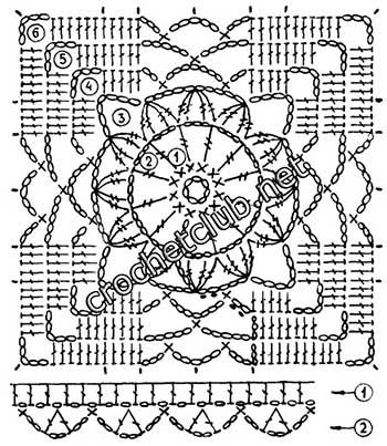 туника филейная мозаика-квадрат1