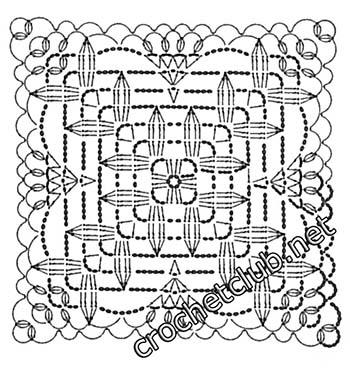 туника филейная мозаика-квадрат3
