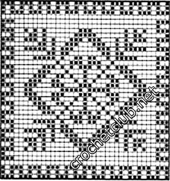 туника филейная мозаика-квадрат8