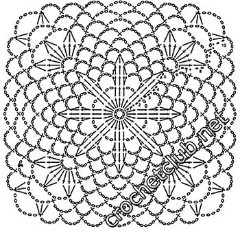 туника филейная мозаика-квадрат9