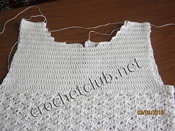 вязание крючком и ткань платье для девочки 2