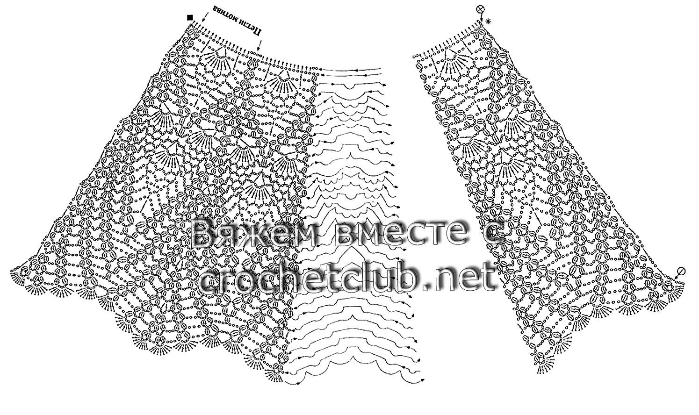 Схема расширения юбки крючком фото 24