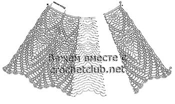 яркая юбочка крючком-схема