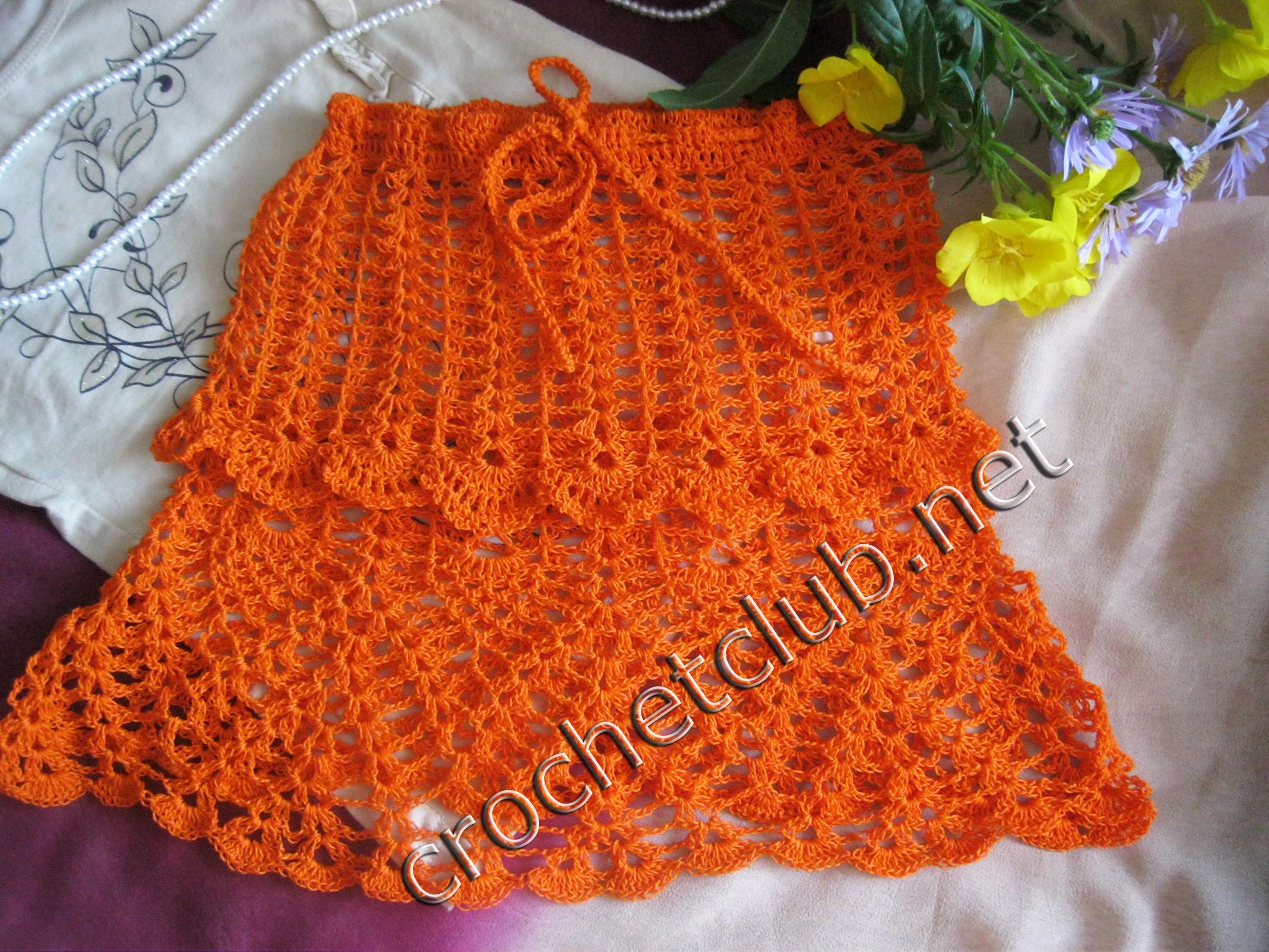вязание юбочка для девочки схема