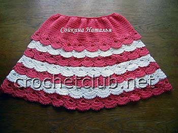 юбка с оборками крючком