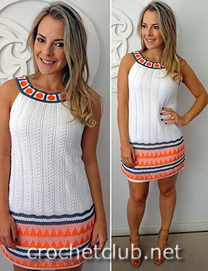 платье с эффектом жаккарда 1