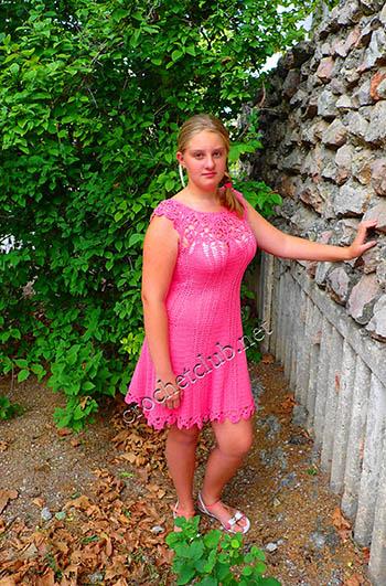 платье связанное по мотивам ванессы монторо