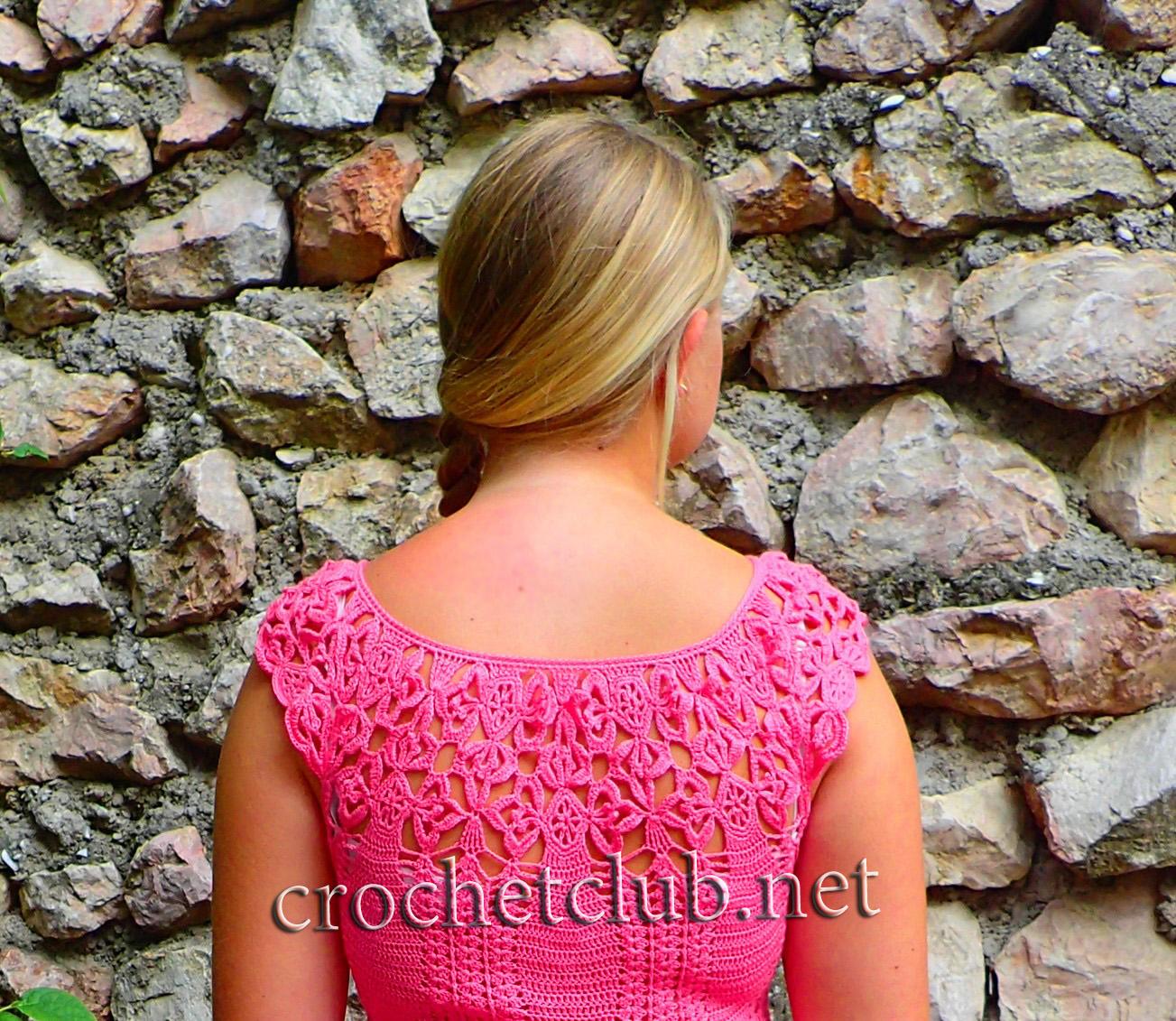 Платье связанное от кокетки