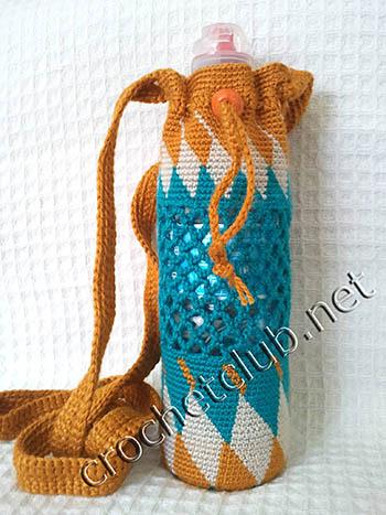 сумочка для бутылки в жаккардовой технике 1