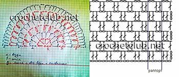 топ в филейной технике-схемы 1