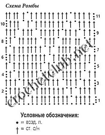 узор ромбы-схема 2