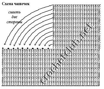халтер-топ крючком-схема 1