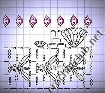 халтер-топ крючком-схема 2