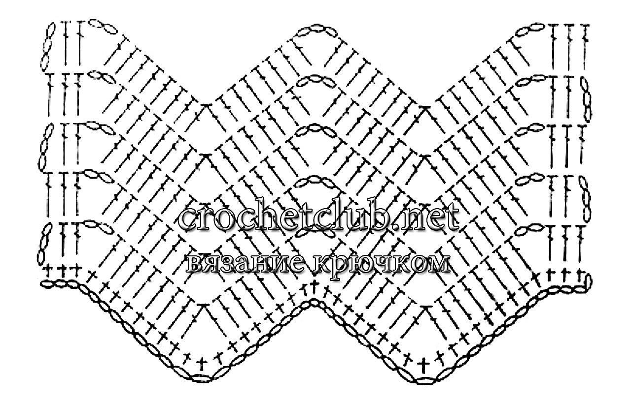 Вязание крючком пуфы зигзаг схемы 57