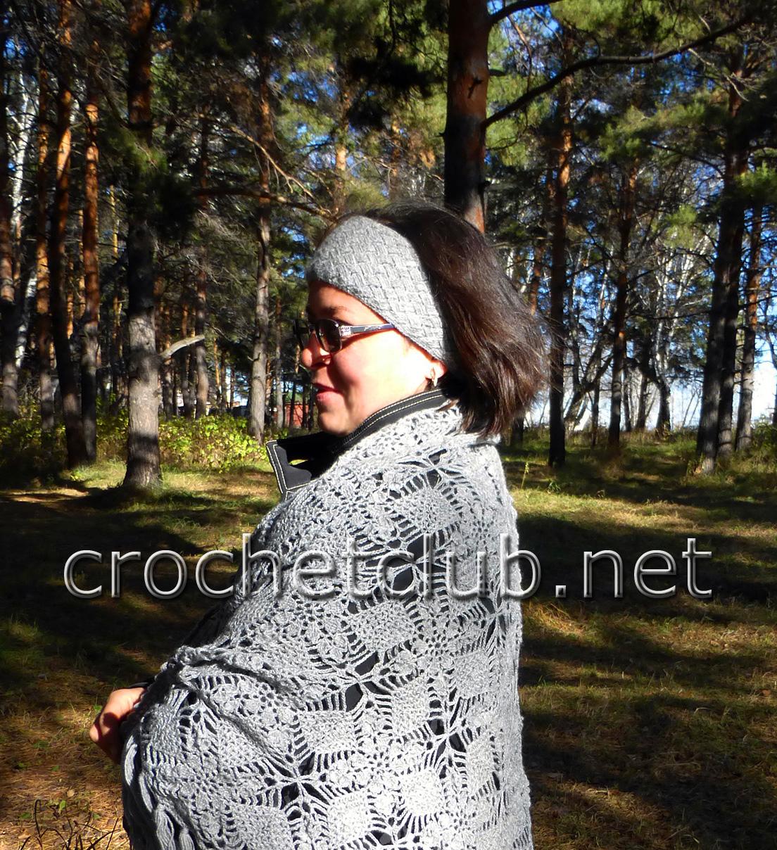 повязка на голову из плюшевой пряжи