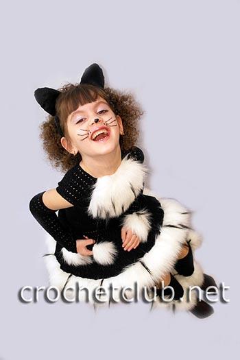 карнавальный вязаный костюм кошечка 1