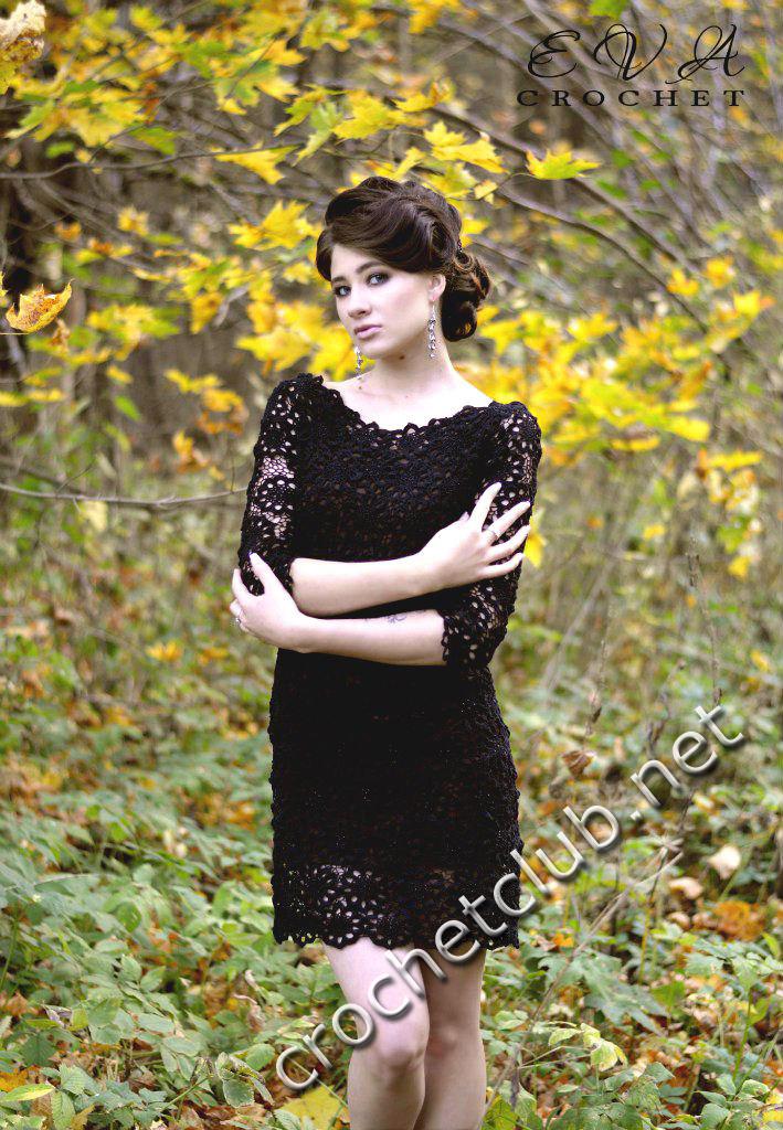 маленькое кружевное платье вязание крючком блог настика