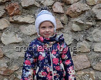 шапка крючком из nancy baby