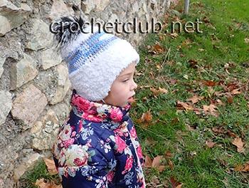 шапка крючком из nancy baby 1