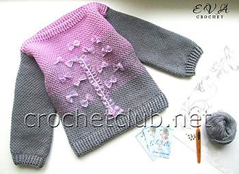 свитер с эффектом деграде fairy