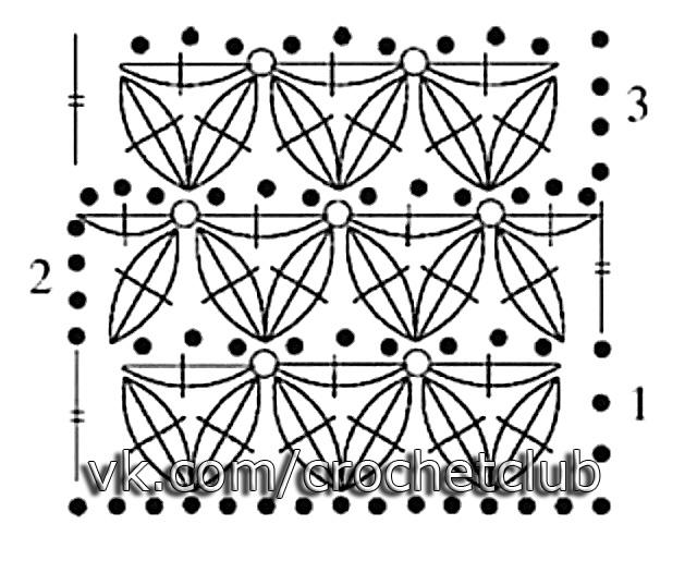 Схема вязание звездочек
