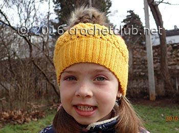 двухцветная шапка крючком 2