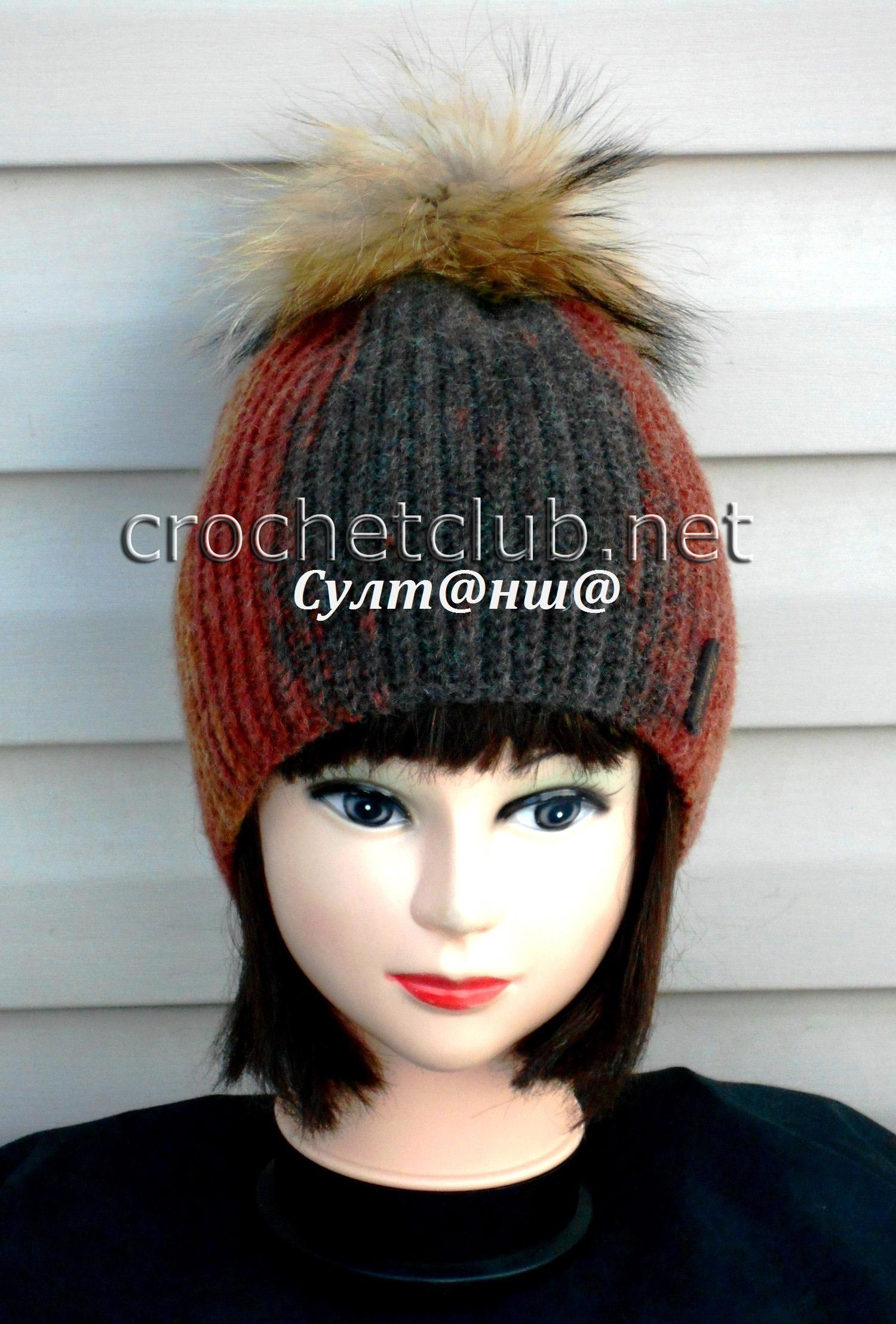 схемы вязания шапки 50