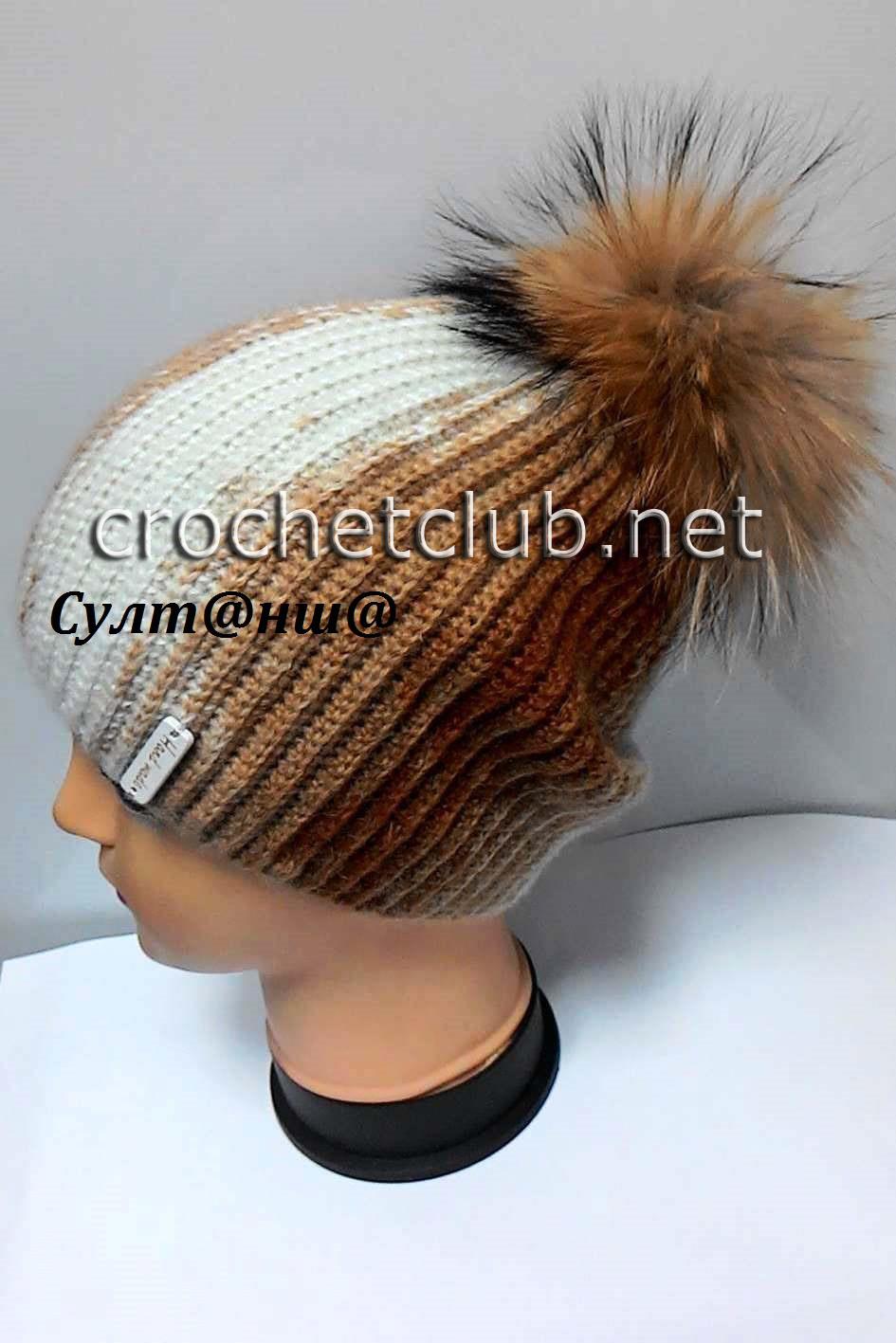 Схема вязания шапочки на мальчика 65