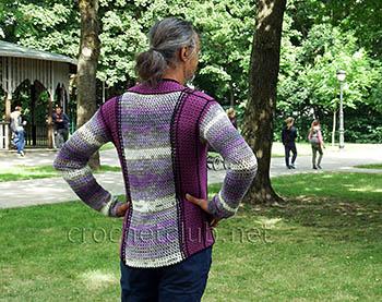 мужской свитер крючком 1