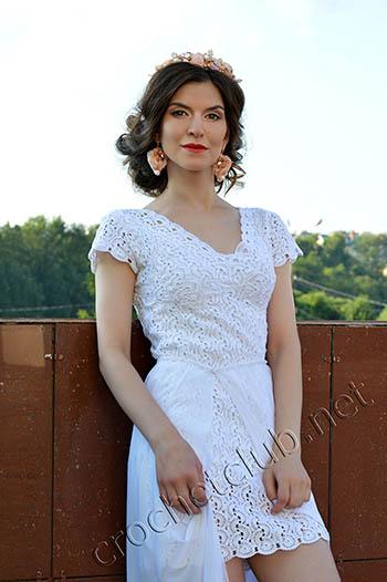 маленькое белое платье крючком 1