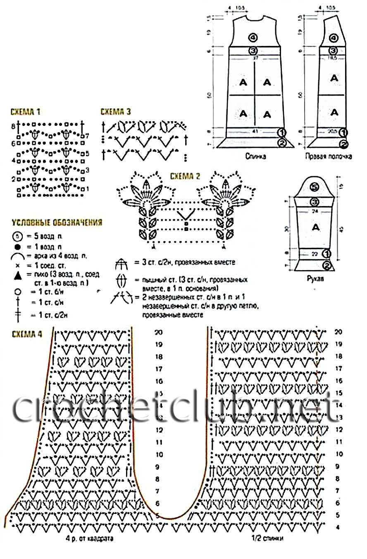 Вязание ажурного кардигана схемы