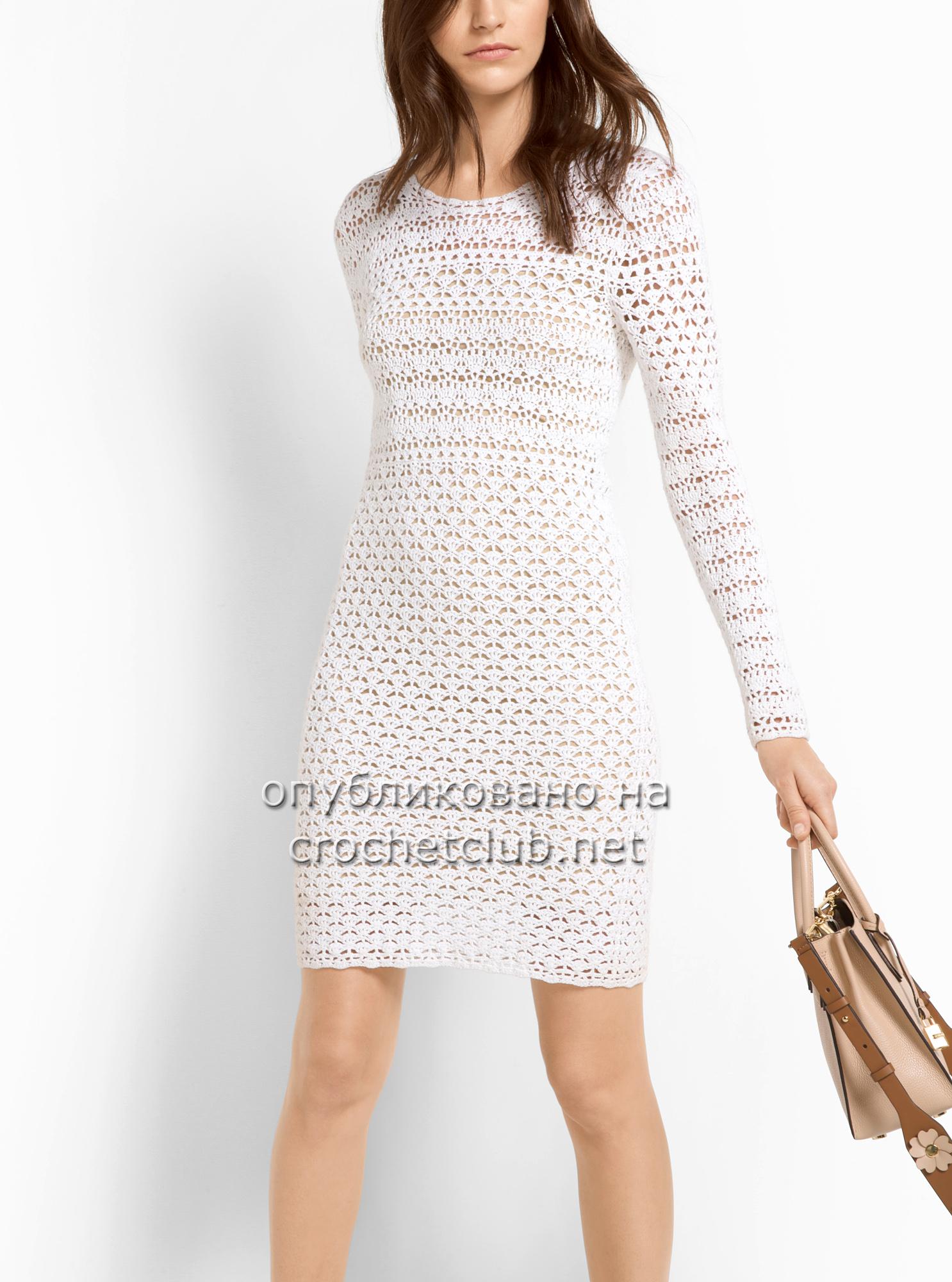 Платье крючком - Вязание Крючком. Блог Настика
