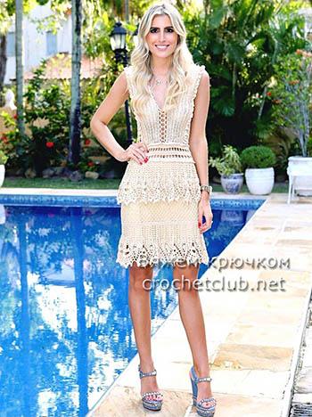 Платье крючком от Alzira Vieira