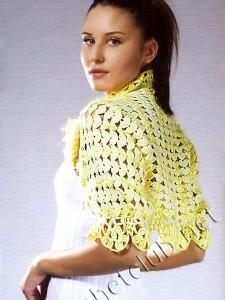 Болеро желтого цвета