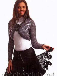 Болеро и юбка, связанные крючком