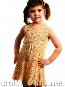 Кремовое платье для девочки 4-х лет