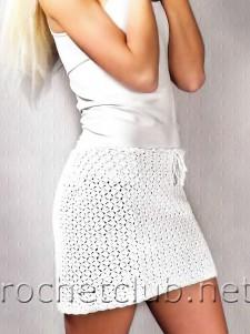 Вязаная мини-юбка